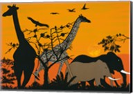 Sunset in Tsavo East Fine-Art Print
