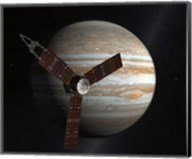 Artist's Concept of the Juno Spacecraft in Orbit around Jupiter Fine-Art Print