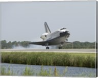 Space Shuttle Endeavour touches down on the runway Fine-Art Print