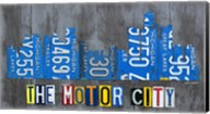 Detriot City Skyline License Plate Fine-Art Print