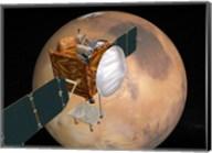 Mars Telecommunications Orbiter in Flight around Mars Fine-Art Print