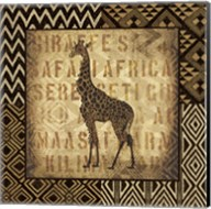 African Wild Giraffe Border Fine-Art Print