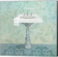 Damask Bath Sink Fine-Art Print