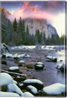Winter snow, Merced River Fine-Art Print