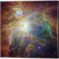 Spitzer and Hubble Create Colorful Masterpiece Fine-Art Print