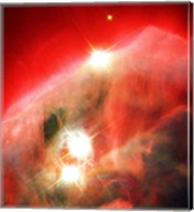 Edifice of Gas and Dust in the Cone Nebula Fine-Art Print