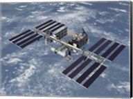 Computer Generated View of the International Space Station Fine-Art Print