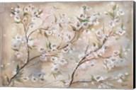 Cherry Blossoms Taupe Landscape Fine-Art Print
