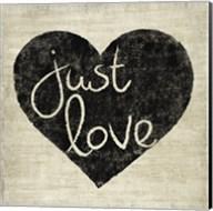 Graffiti Heart Black/Cream IV Fine-Art Print