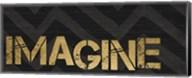 Chevron Sentiments Black/Gold Panel V Fine-Art Print