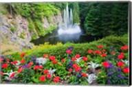 Butchart Gardens Water Fall, Victoria, British Columbia, Canada Fine-Art Print