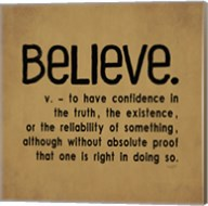 Definitions-Believe I Fine-Art Print