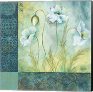 White Poppy Garden I Fine-Art Print