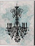 Chandelier  Splash Of Blue 2 Fine-Art Print