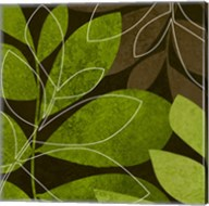 Green Brown Leaves 2 Fine-Art Print