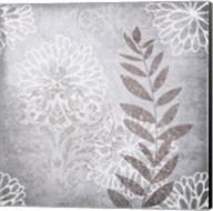 Warm Grey Flowers 6 Fine-Art Print