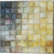 Yellow Gray Mosaics I Fine-Art Print
