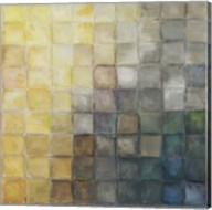 Yellow Gray Mosaics II Fine-Art Print
