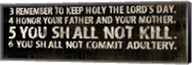 10 Commandments (3-6) Fine-Art Print