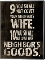 10 Commandments (9 & 10) Fine-Art Print