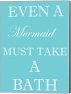 Mermaid Must Bathe Fine-Art Print