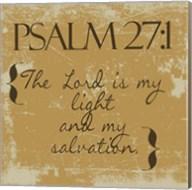 Psalms 27-1 Gold Fine-Art Print