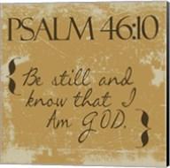 Psalms 46-10 Gold Fine-Art Print
