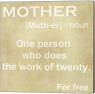 Mother Definition Fine-Art Print