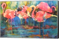 Flirty Flamingos Fine-Art Print