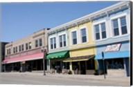 USA, Wisconsin, Manitowoc, Main Street Fine-Art Print
