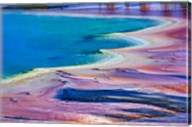 Pattern in Bacterial Mat, Midway Geyser Basin, Yellowstone National Park, Wyoming Fine-Art Print