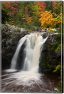 WI, Pattison SP, Little Manitou Falls, Black River Fine-Art Print