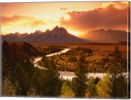Teton Range at Sunset, Grand Teton National Park, Wyoming Fine-Art Print