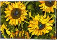 Sunflowers On a Field of Green Fine-Art Print