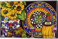 Vino and Sunflowers Fine-Art Print