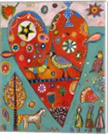 Love Birds Heart Fine-Art Print