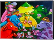 Cows Poker Fine-Art Print