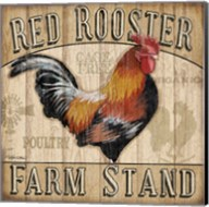 Country Rooster I Fine-Art Print