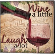Wine With Friends I Fine-Art Print