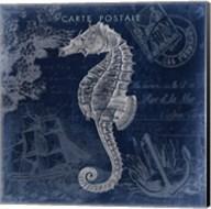 Seaside Postcard Navy II Fine-Art Print