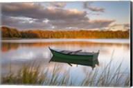 Green Boat on Salt Pond Fine-Art Print