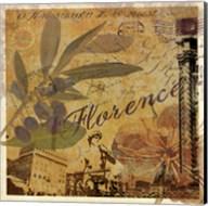 Latitude and Longitude Travel to Florence Fine-Art Print