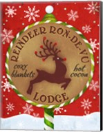 Reindeer Lodge Fine-Art Print