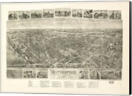 Rutherford, NJ Vintage Map, 1904 Fine-Art Print