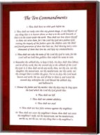 The Ten Commandments - Red Fine-Art Print