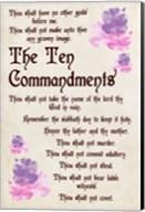 The Ten Commandments - Floral Fine-Art Print