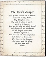 The Lord's Prayer - Script Fine-Art Print