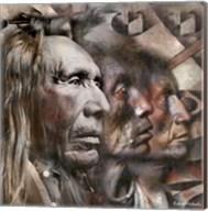 Three Native American Faces Fine-Art Print