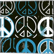 Peace Mantra (Blue) Fine-Art Print