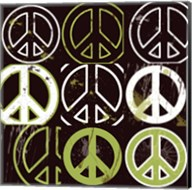 Peace Mantra (Green) Fine-Art Print